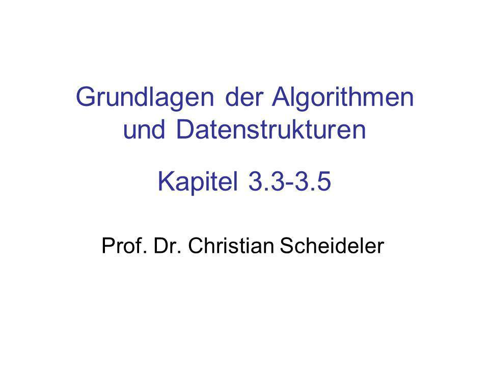 Grundlagen der Algorithmen und Datenstrukturen Kapitel 3.3-3.5 Prof. Dr. Christian Scheideler
