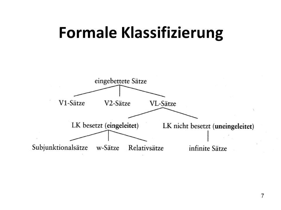 7 Formale Klassifizierung