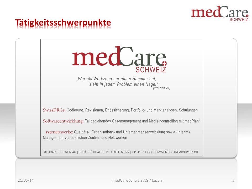 21/05/14 3 medCare Schweiz AG / Luzern