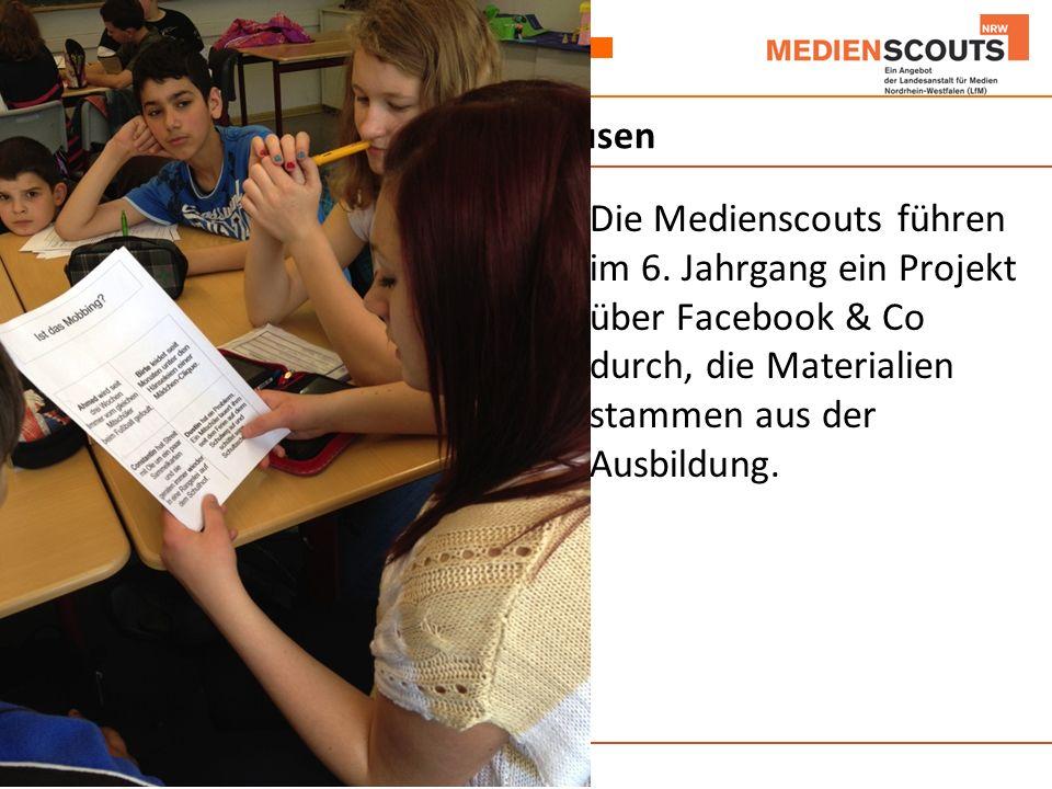 Anne-Frank-Realschule Oberhausen Die Medienscouts führen im 6.