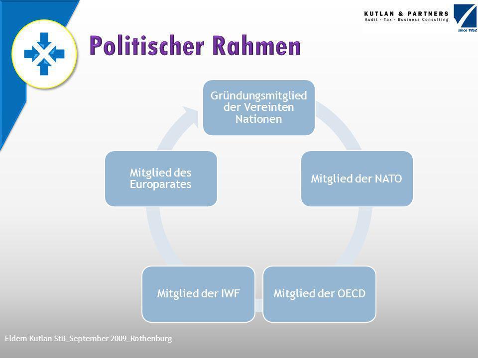 Gründungsmitglied der Vereinten Nationen Mitglied der NATOMitglied der OECDMitglied der IWF Mitglied des Europarates Eldem Kutlan StB_September 2009_Rothenburg