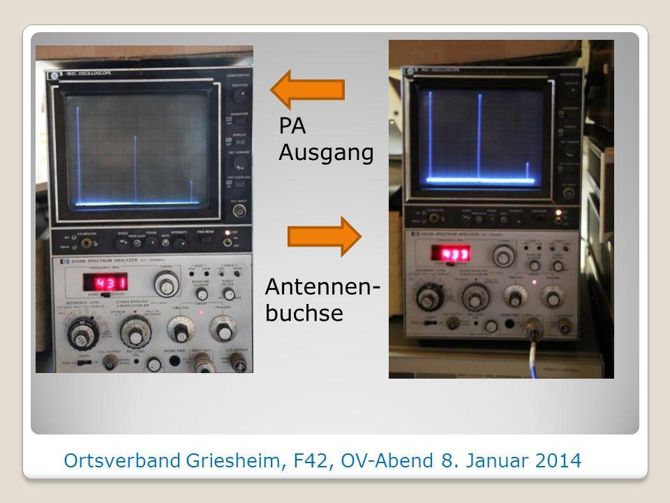 Spektum Plots Ortsverband Griesheim, F42, OV-Abend 8. Januar 2014 Ausgang DDS Nach Helix Filter