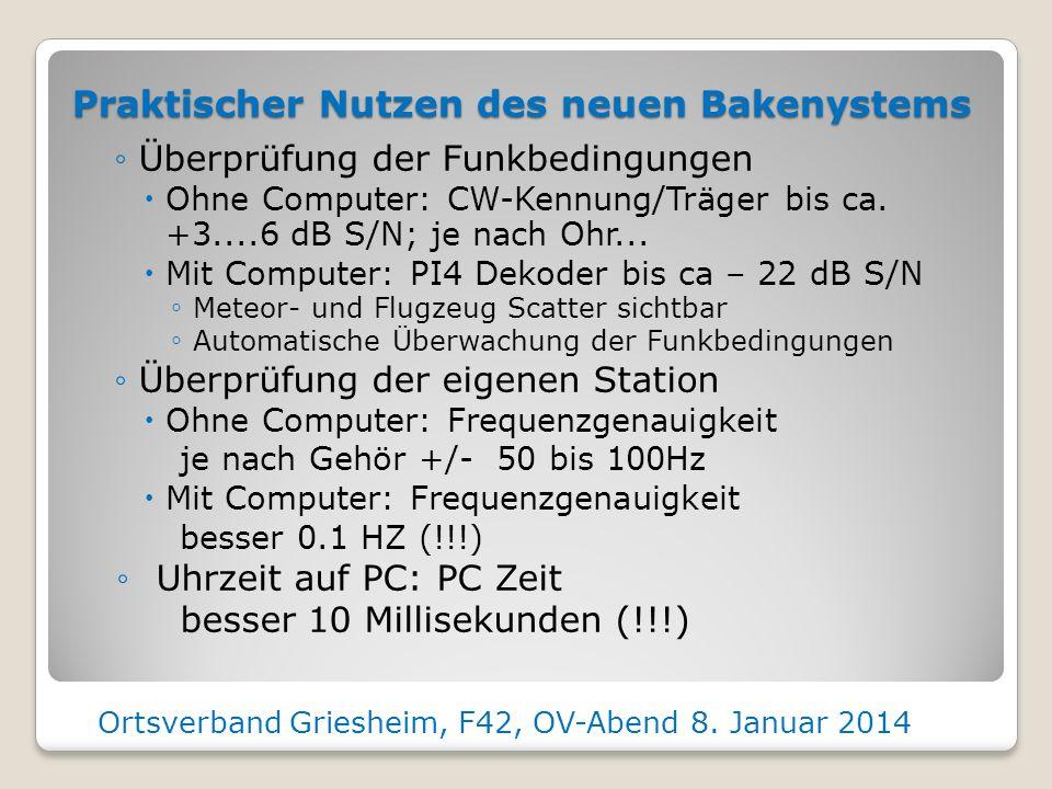 Ortsverband Griesheim, F42, OV-Abend 8. Januar 2014 PA Ausgang Antennen- buchse