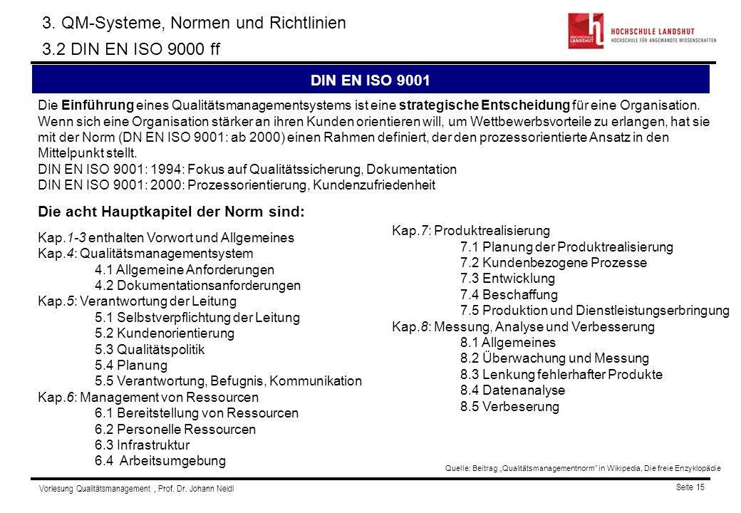 Vorlesung Qualitätsmanagement, Prof.Dr.