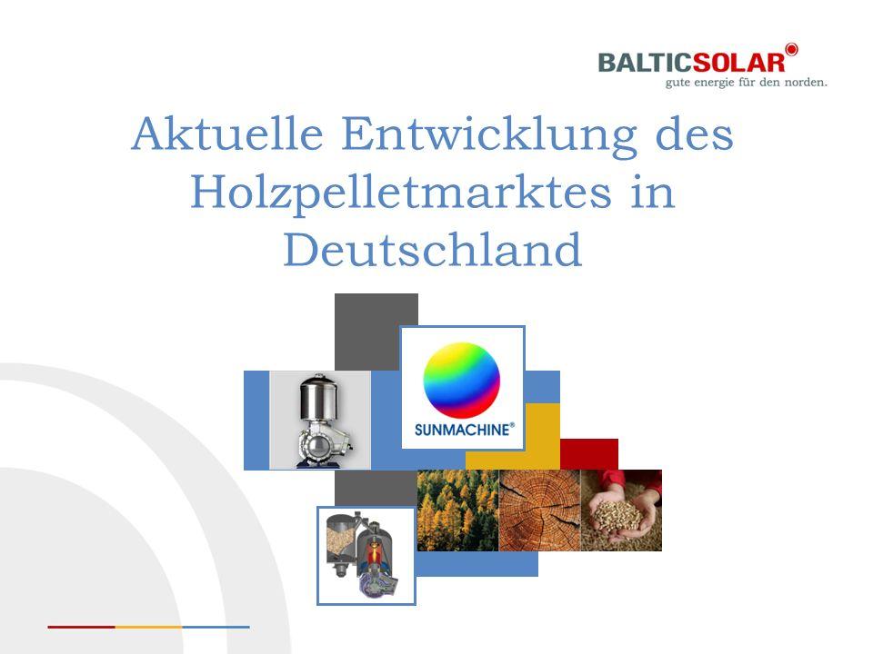 Aktuelle Entwicklung des Holzpelletmarktes in Deutschland