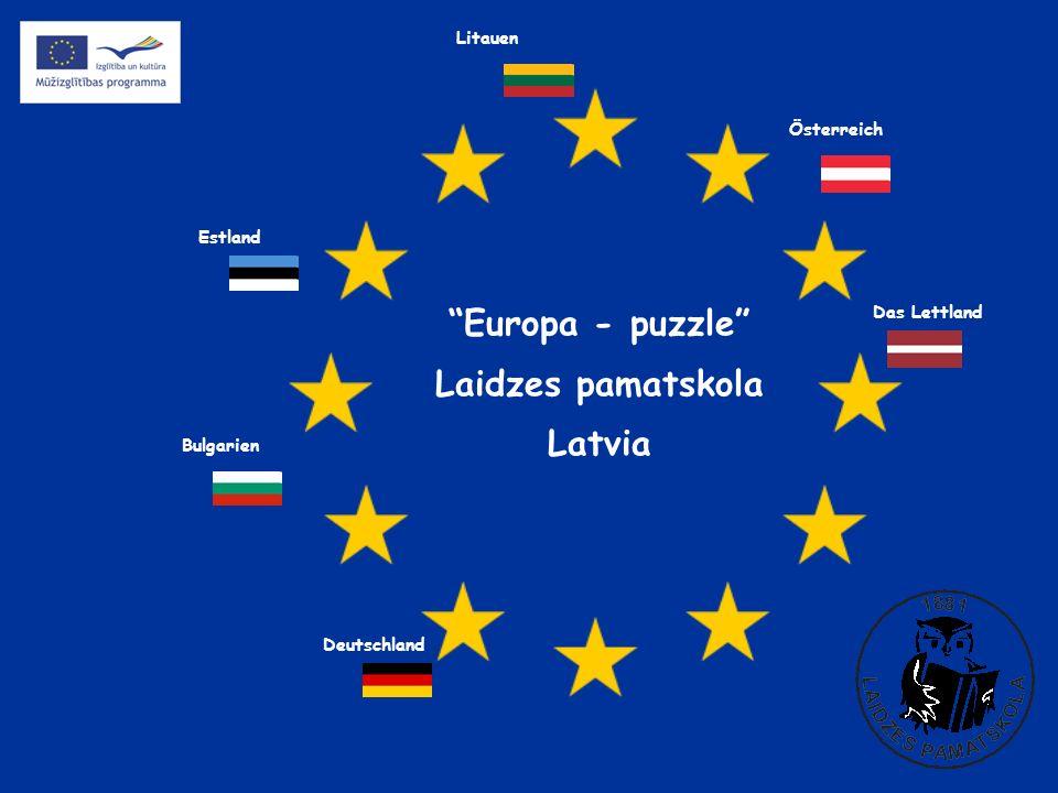 Europa - puzzle Laidzes pamatskola Latvia Österreich Estland Deutschland Das Lettland Litauen Bulgarien