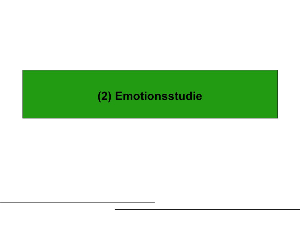 (2) Emotionsstudie
