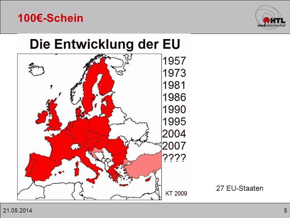 521.05.2014 100-Schein 27 EU-Staaten
