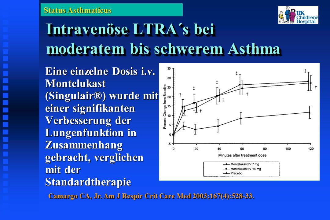 Status Asthmaticus Intravenöse LTRA´s bei moderatem bis schwerem Asthma Eine einzelne Dosis i.v.