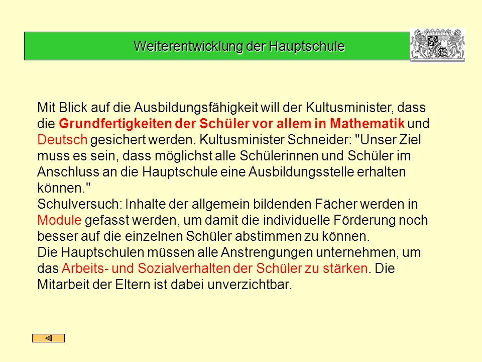 Mit Blick auf die Ausbildungsfähigkeit will der Kultusminister, dass die Grundfertigkeiten der Schüler vor allem in Mathematik und Deutsch gesichert w