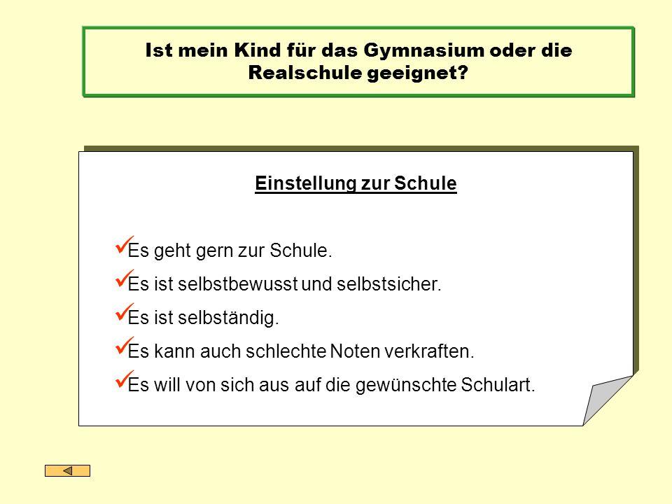 Das gegliederte Schulwesen in Bayern – alle Talente fördern Berufliche Ausbildung (Duales System) Hochschulstudium (Universität, Fachhochschule) Mittlerer Schulabschluss (HS / RS / WS / GY) Hochschulreife / Fachhochschulreife (GY / Berufliche Oberschule) HauptschuleRealschuleGymnasium Jedes Kind ist anders.