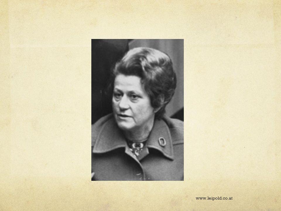 Etwas Geschichte 1974 durch die damalige Bundesministerin für Gesundheit und Umweltschutz, Frau Dr.