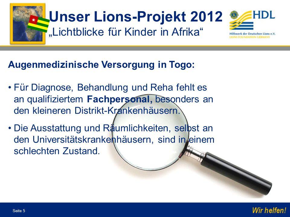 Seite 16 Wir helfen.Unsere Partner Lichtblicke für Kinder in Afrika Die deutsche Augenärztin Dr.