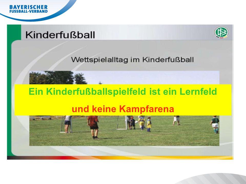 Ein Kinderfußballspielfeld ist ein Lernfeld und keine Kampfarena