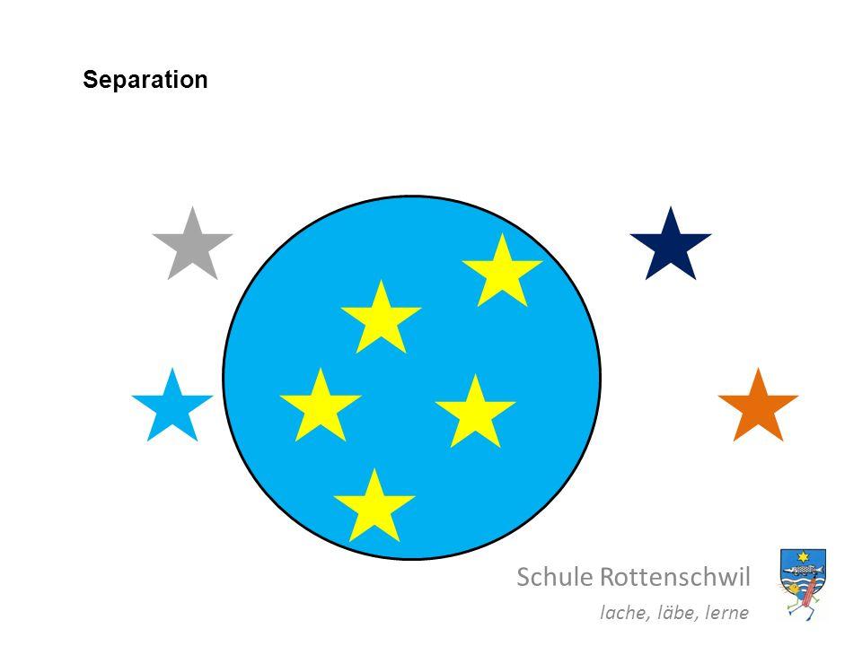 Separation Schule Rottenschwil lache, läbe, lerne