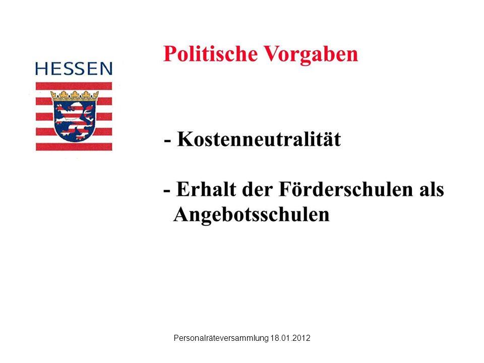 Hanau Personalräteversammlung 18.01.2012 Was sagt die VOSB sonst.