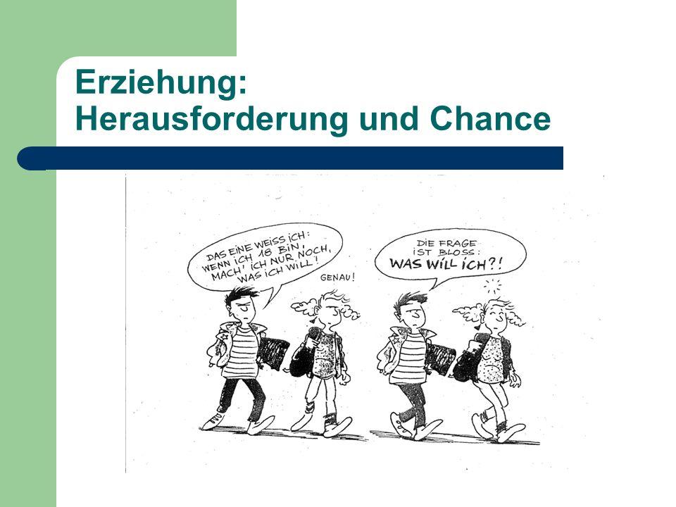 Erziehung: Herausforderung und Chance