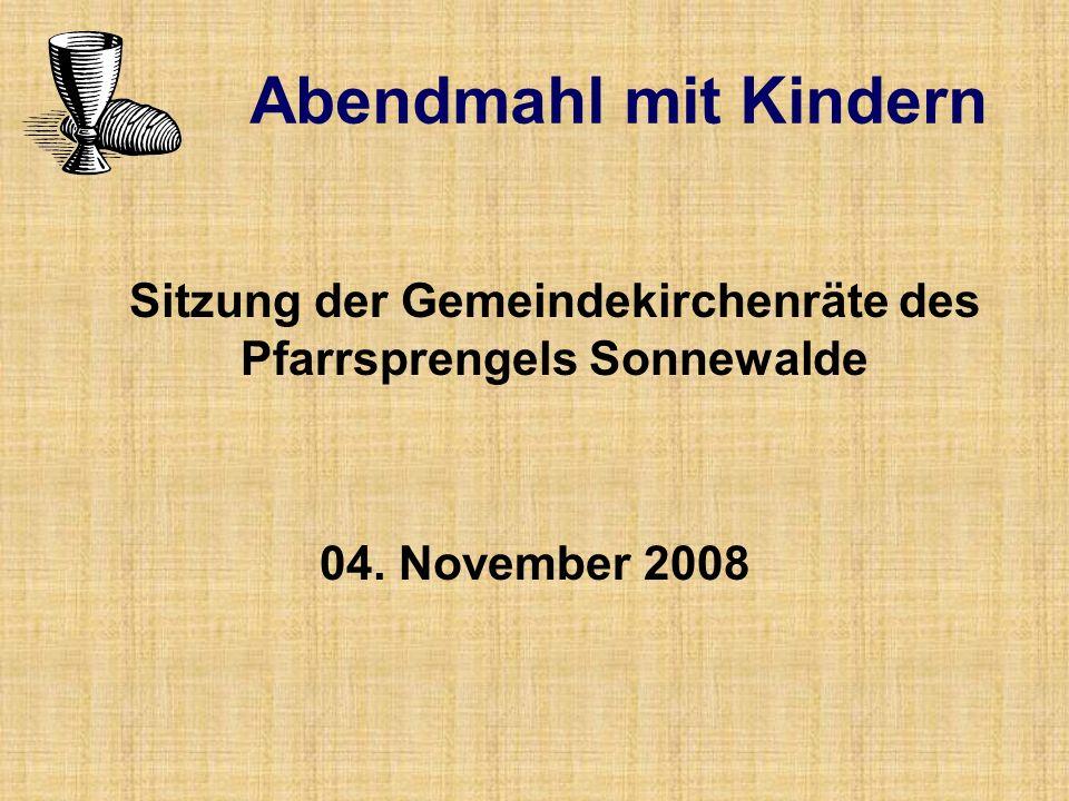 Sitzung der Gemeindekirchenräte des Pfarrsprengels Sonnewalde 04.