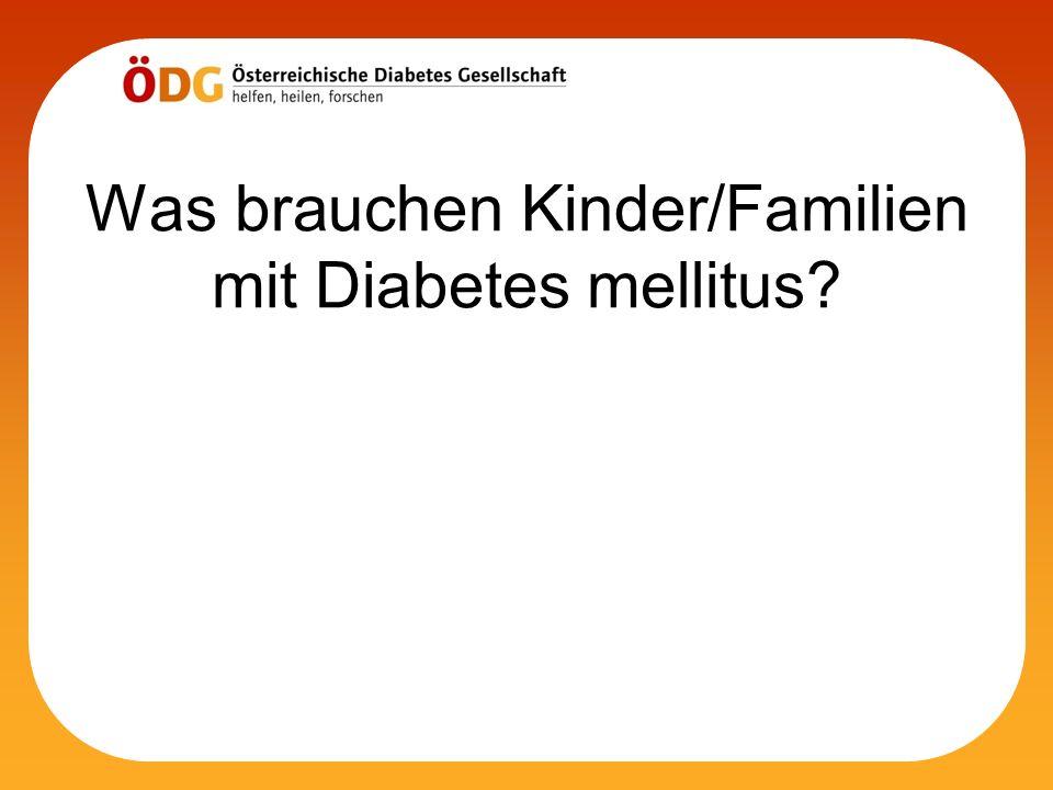 Was brauchen Kinder/Familien mit Diabetes mellitus?
