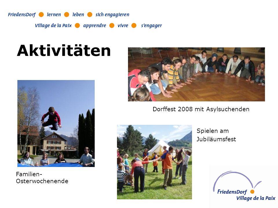 Aktivitäten Dorffest 2008 mit Asylsuchenden Spielen am Jubiläumsfest Familien- Osterwochenende