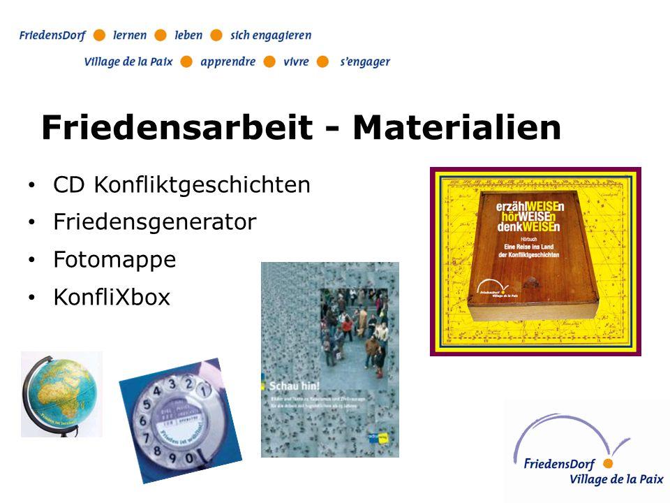 Friedensarbeit - Materialien CD Konfliktgeschichten Friedensgenerator Fotomappe KonfliXbox