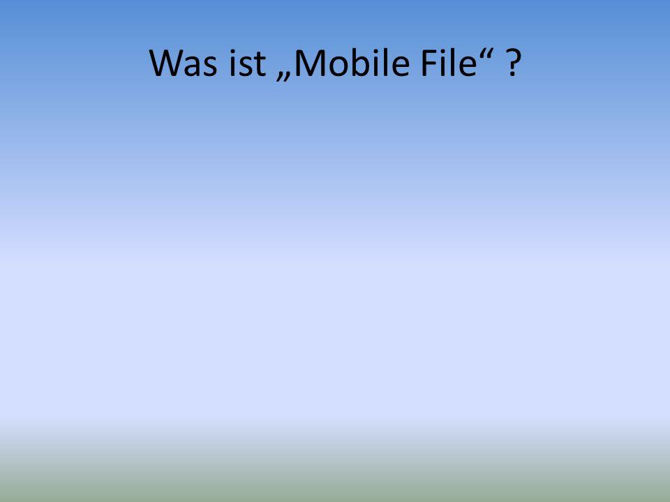 Mobiler Dateidienst für den Upload/ Download von Dateien