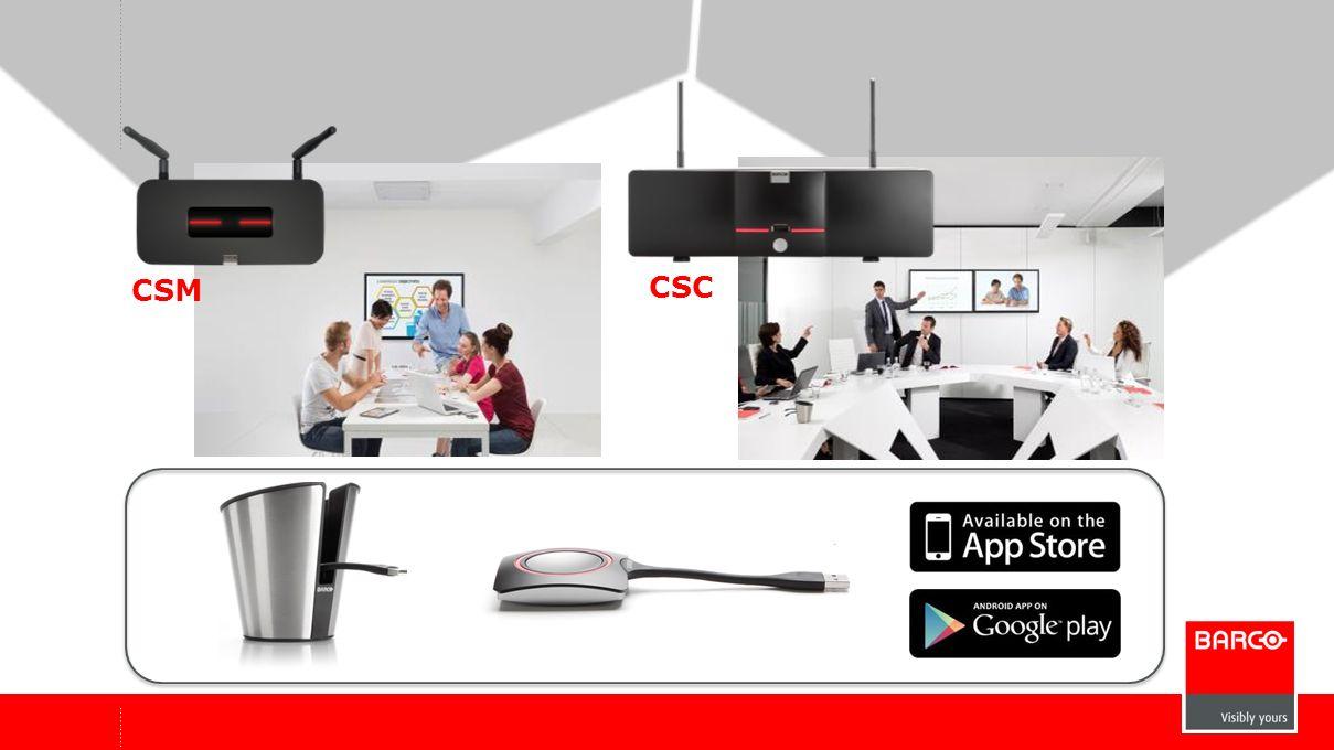 7 ClickShare, Teil des Corporate AV-Angebots von Barco www.barco.com/corporateav Ein anderer Blick auf intelligente Zusammenarbeit