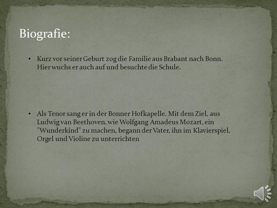 Biografie: Kurz vor seiner Geburt zog die Familie aus Brabant nach Bonn.