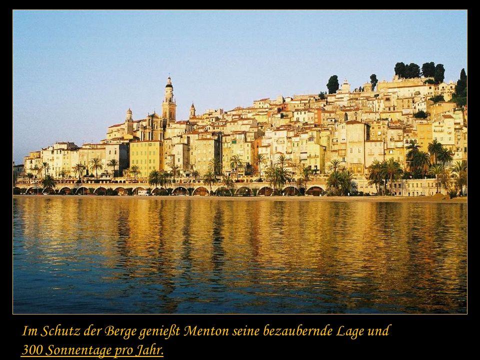Menton war seit 1346 Teil des Fürstentums Monaco und bis 1860 im Großen und Ganzen ein Besitz der Grimaldis.