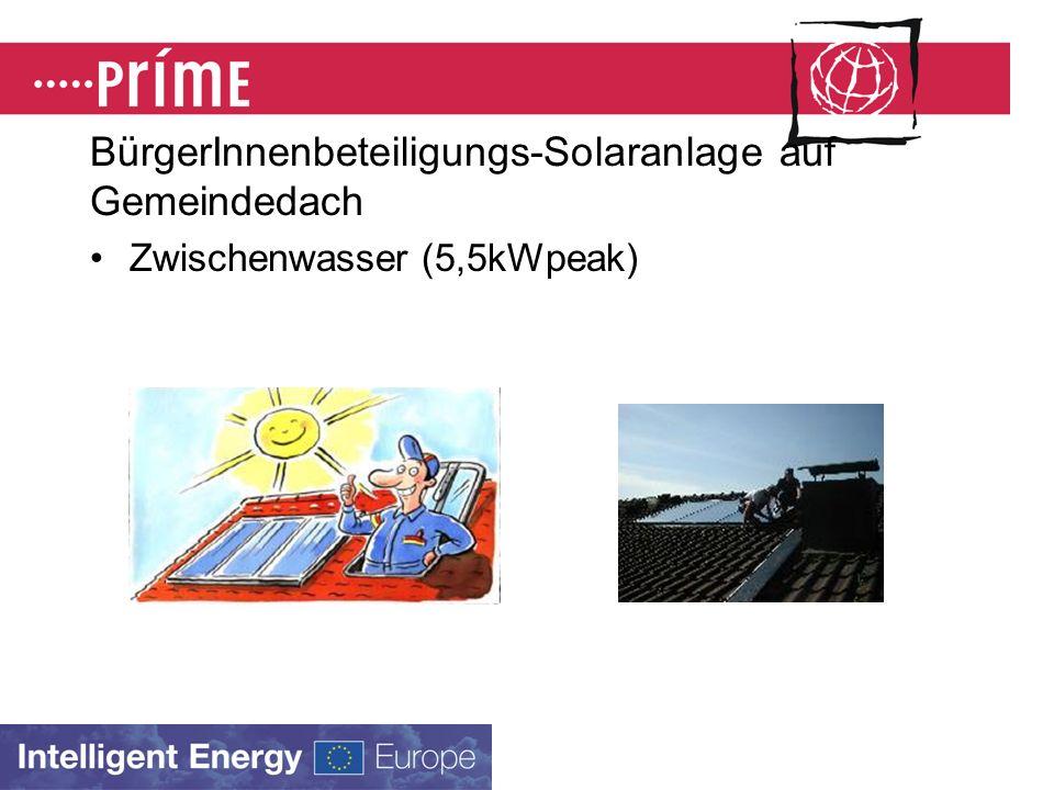 BürgerInnenbeteiligungssolarstromanlagen (viele Projekte in DE) Bayerisches Parlament, München (20 kWpeak) Friedrich-Wöhler Gymnasium,Singen (18 kWpeak)
