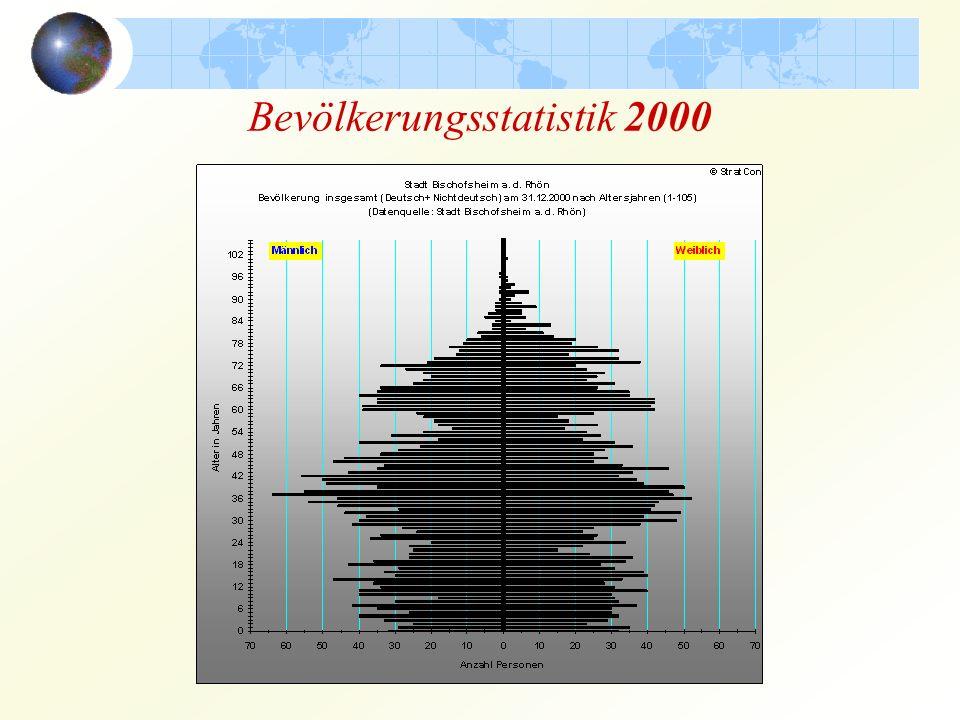 Bevölkerungsstatistik 2000