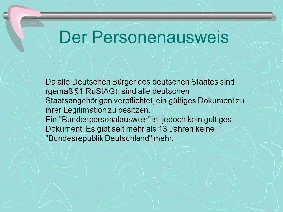 Der Personalausweis Es gab im Deutschen Reich bis 1933 also für Personen folgerichtig in erster Linie Personenausweise (Beispiel siehe Abbildung links