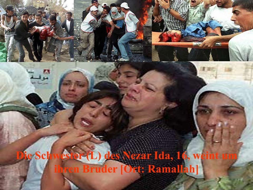Der Körper von Fahmi Abu Amunah, 21, welcher bei den Vorfällen in Gaza getötet wurde!
