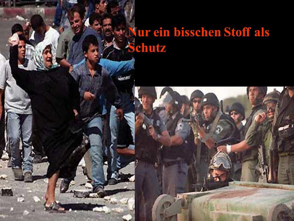 Was wäre…wenn die Palästinenser auch Waffen hätten.