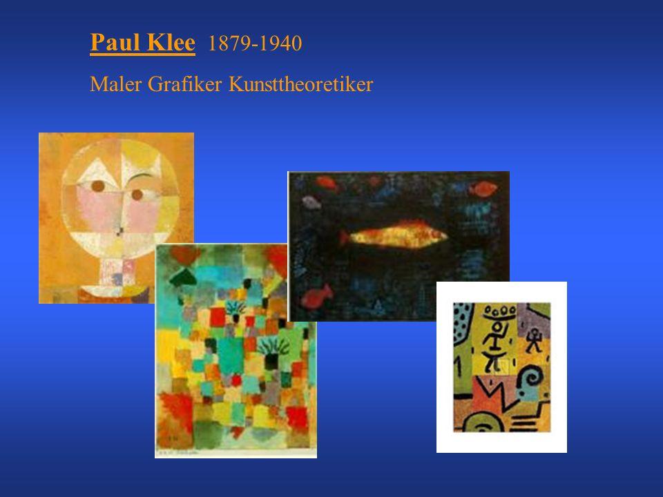 Paul Klee 1879-1940 Maler Grafiker Kunsttheoretiker