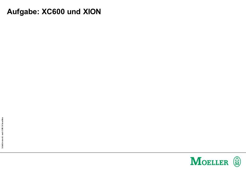 Schutzvermerk nach DIN 34 beachten Aufgabe: XC600 und XION über DP - Lauflicht