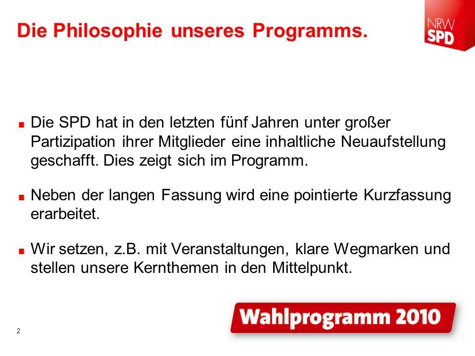 GEMEINSAM GEWINNEN. Das komplette Programm im Entwurf unter www.nrwspd.de. 23