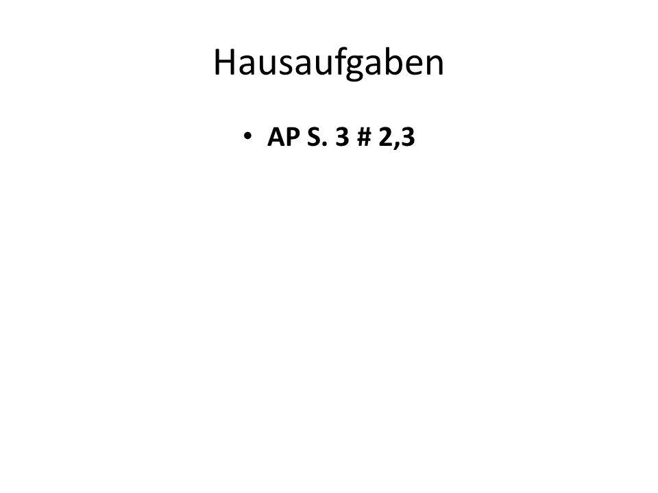 Hausaufgaben AP S. 3 # 2,3