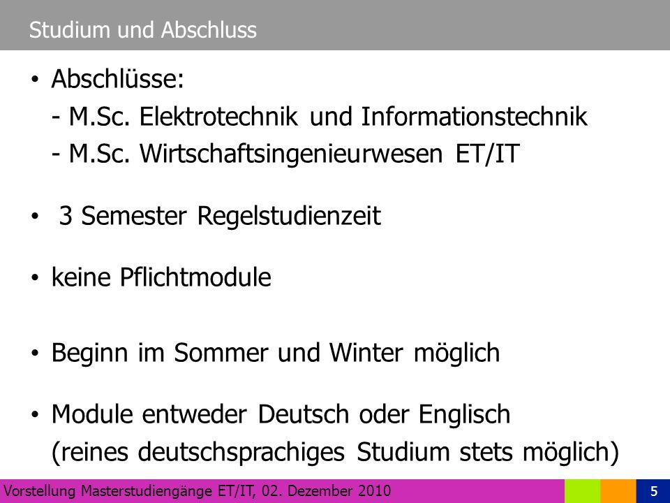 5 Studium und Abschluss Vorstellung Masterstudiengänge ET/IT, 02.