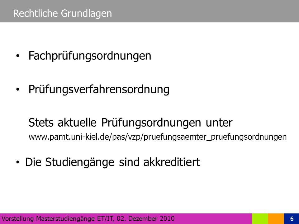 6 Rechtliche Grundlagen Vorstellung Masterstudiengänge ET/IT, 02.