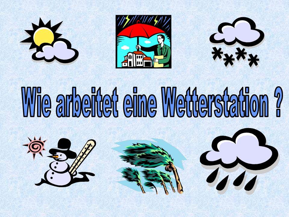 Wetterbeobachtungen, die von den Mitarbeitern der Wetterstation beobachtet werden: z.B.
