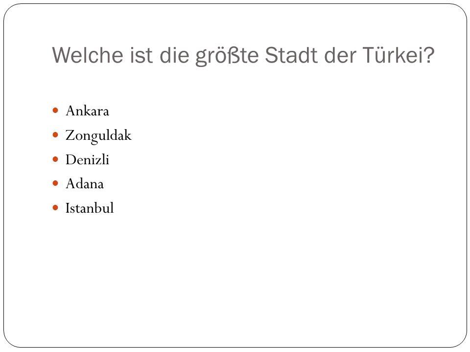 Wie groß ist die Türkei.