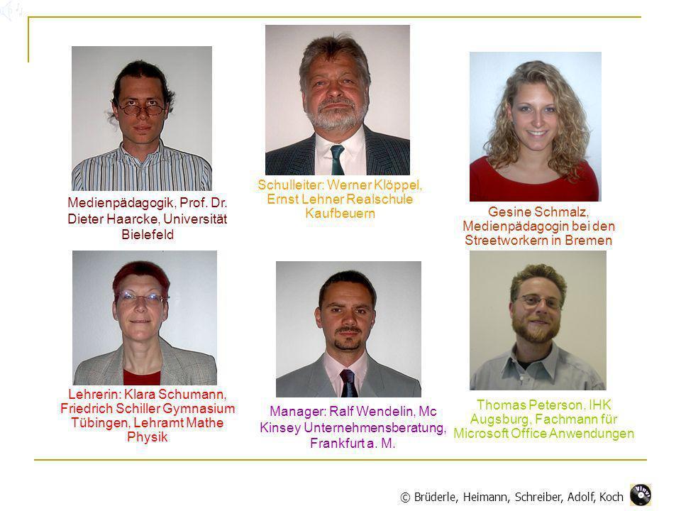 Medienpädagogik, Prof. Dr. Dieter Haarcke, Universität Bielefeld Lehrerin: Klara Schumann, Friedrich Schiller Gymnasium Tübingen, Lehramt Mathe Physik