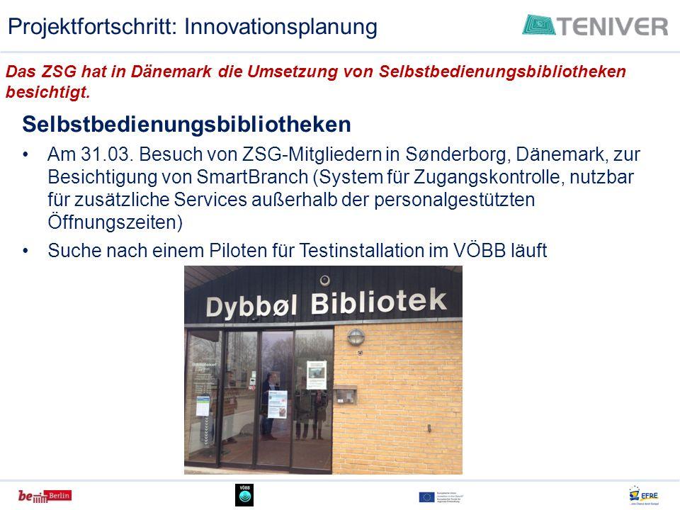 Selbstbedienungsbibliotheken Am 31.03. Besuch von ZSG-Mitgliedern in Sønderborg, Dänemark, zur Besichtigung von SmartBranch (System für Zugangskontrol