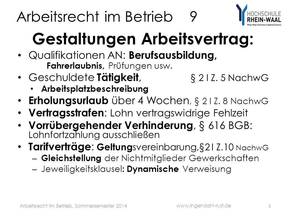 Arbeitsrecht im Betrieb 9 Dienstwagen mit Recht zur privaten Nutzung Sachwert ist (Brutto-) Lohn, wie Verpflegung/ Telefon Versteuerung: Fahrtenbuch o.