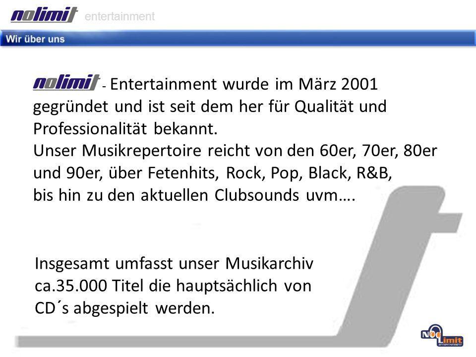 entertainment Viel wichtiger als ein gutes Archiv ist aber das Wissen, zu welchem Zeitpunkt welcher Musikstyle am besten passt.