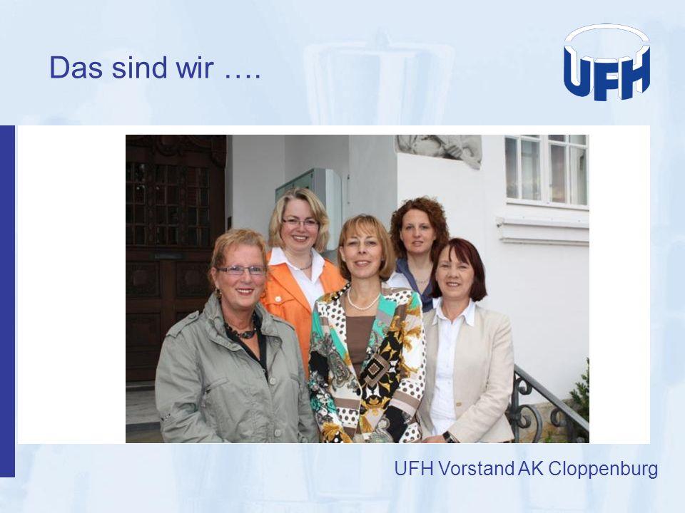 Das sind wir …. UFH Vorstand AK Cloppenburg