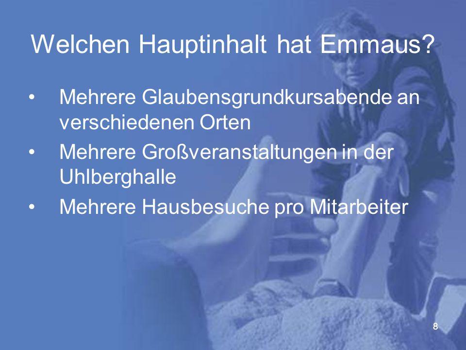 8 Welchen Hauptinhalt hat Emmaus.