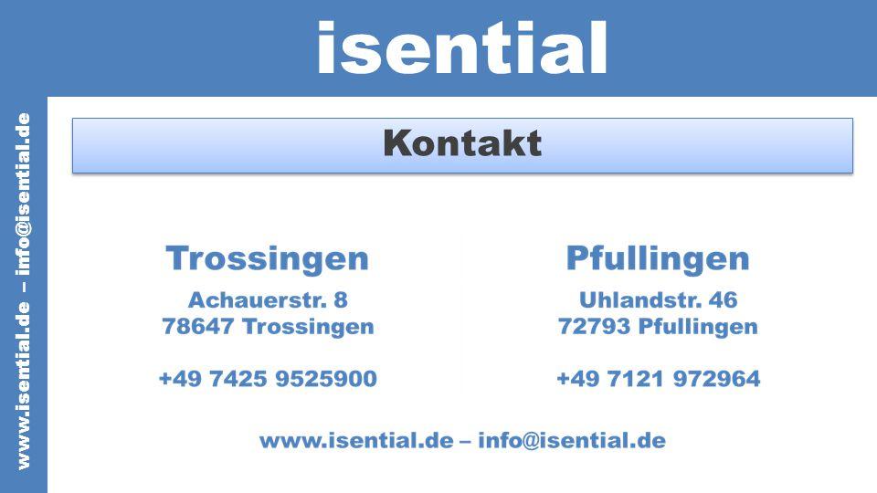 isential www.isential.de – info@isential.de Kontakt