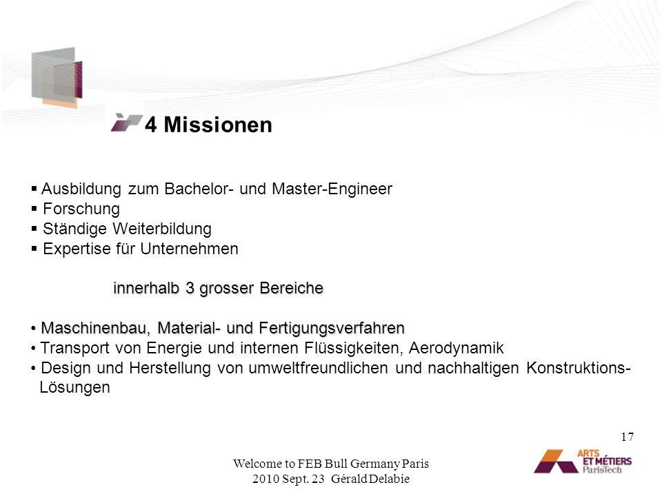4 Missionen Ausbildung zum Bachelor- und Master-Engineer Forschung Ständige Weiterbildung Expertise für Unternehmen innerhalb 3 grosser Bereiche inner